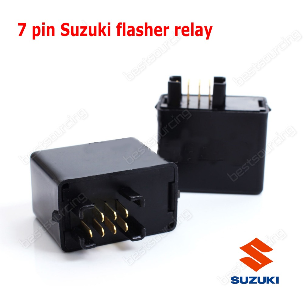 7 pin  Flasher Relay  LED Signal Light 7 pins GSXR 600 750 01 02 03 04 05 K1 DR-Z 400S / SM (Fits: Suzuki)(CA199) sg152b dc 24v 130w 3 pin led light fast blink flash auto car flasher relay 5 pcs
