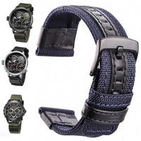 Нейлоновые Ремешки для наручных часов для мужчин спортивный ремешок Nato 20 мм 22 мм 24 мм черный зеленый кофейный браслет для часов застежка из ...