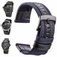 Bracelets de montre en Nylon pour hommes bracelet de Sport otan 20mm 22mm 24mm bracelet de montre café noir vert ceinture boucle en acier inoxydable fermoir accessoires