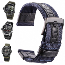 Nylon Watchbands Men Sport Nato Strap 22mm 24mm Black Green Coffee Watch Band Belt Stainless Steel Buckle Clasp Accessorie все цены