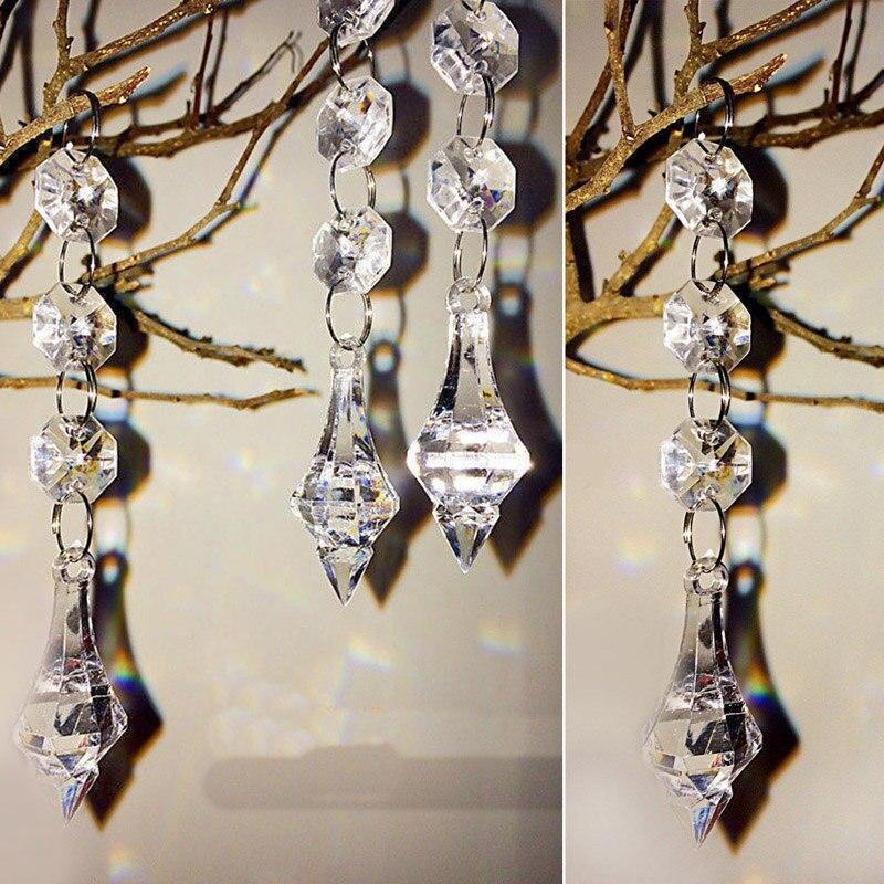 Pcs Acrylic Crystal Beads Garland Chandelier Hanging Wedding - Chandelier acrylic crystals