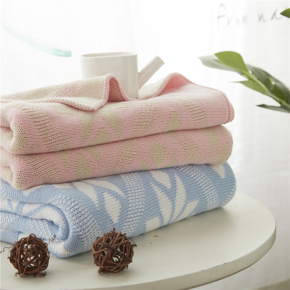 100% Cotton Flower Geometric Knitted Blankets Large Soft Throw Blanket bedding on the Bed Sofa Bed Car Travel Plaids Bedding Set