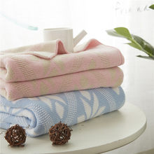 100% Cotton Flower Geometric Knitted Blankets Large Soft Throw Blanket bedding on the Bed Sofa Bed Car Travel Plaids Bedding Set(China)