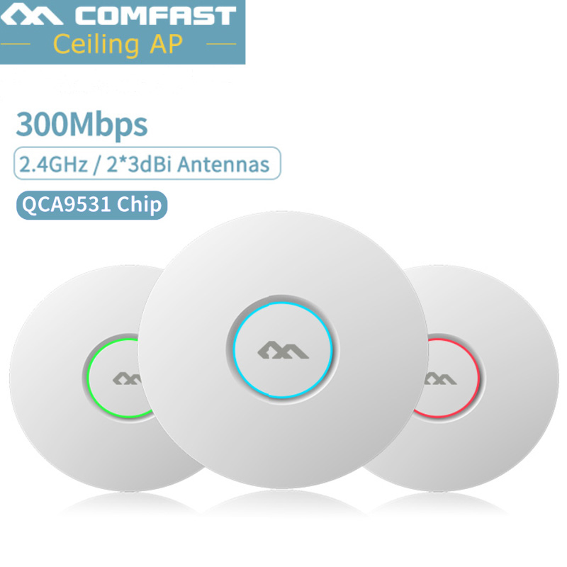 COMFAST Wifi-System Access-Point-Ap Enterprise Open-Ddwrt 300mbps Ceiling Wireless Ap