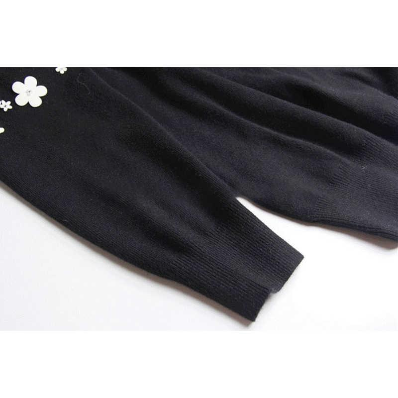 GALCAUR Autunno Casual Heavy Appliques Patchwork Maglione Delle Donne O Collo A Manica Lunga Pullover Femminile 2019 di Abbigliamento di Moda Coreano