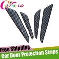4Pcs/Set Car Door Protection Strips Sticker For VW Golf 5 6 7 Tiguan Jetta MK4 MK5 MK6 POLO CC Lavida For Audi Q3 Q5 Q7 A4 A6 A7