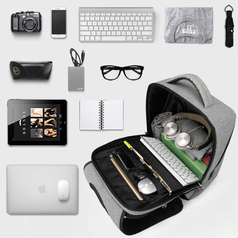 Tigernu casual hydrofuge Anti-vol hommes 15.6 pouces sacs à dos d'ordinateur portable 24L cartable pour garçons voyage d'affaires mâle Mochilas