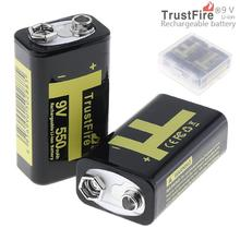 8pcs/lot TrustFire 550mAh 9V Rechargeable USB Lithium Battery with Safety Relief Valve LED Indicator for Multimeter Microphone
