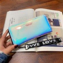Women Wallets Lanyard Laser Holographic Wallet