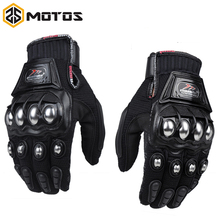 ZS MOTOS  Madbike protective Gloves motorcycle Stainless Steel Sports Racing Road Gears Motorbike motocicleta guantes moto luvas