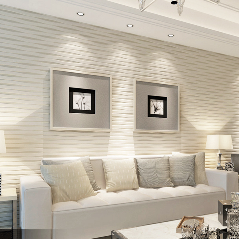 3D Stereo Embossed Non woven Wallpaper Wallcovering