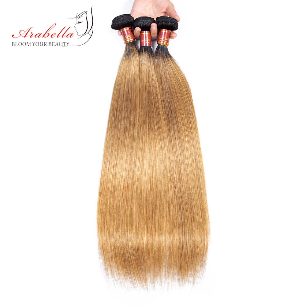 Straight Hair Bundles With Closure 1b/27 Ombre Arabella  Hair  100%  Bundles With Closure 6