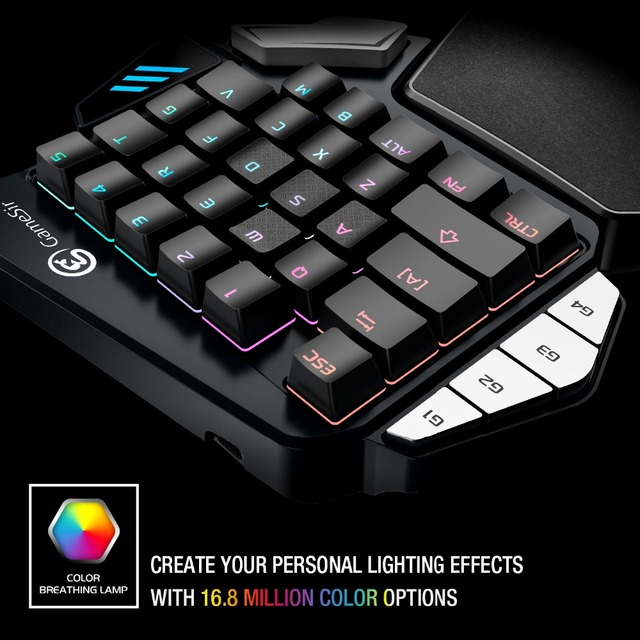 GameSir Z1 Gaming Keypad for Mobile/PC Games  AoV Mobile Legends  FPS Games One-handed Blue Switchs/ Cherry MX Red 2