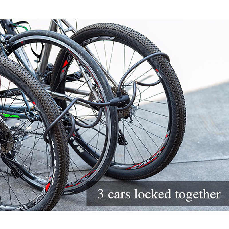 Anti-Theft Kabel Kunci Sepeda Kunci Sepeda Kunci Sandi Kunci Alarm untuk Sepeda Jalan Sepeda Gunung 1.2 M /1.8 M 3 Warna Sepeda Bagian