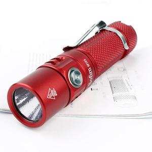 Image 5 - Sofirn משודרג SP10S LED AA/14500 פנס LH351D 800lm IPX8 מיני עמיד למים טקטי לפיד CRI Keychain חירום אור