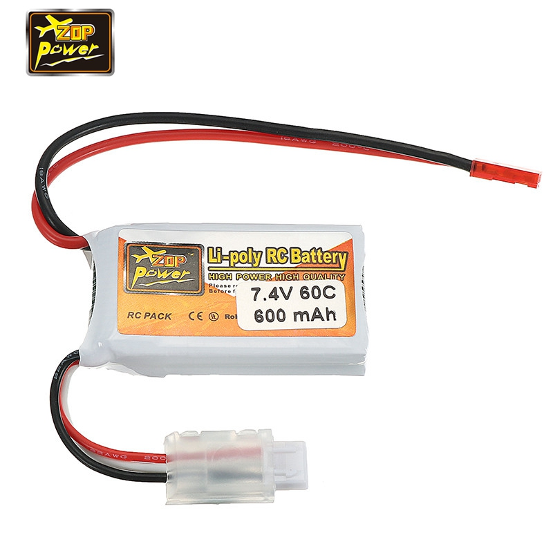 2017 Newest ZOP Power 7.4V 600mAh 60C 2S Lipo Battery JST Plug Connector for RC Racing Drone Quadcopter Multirotor Spare Parts