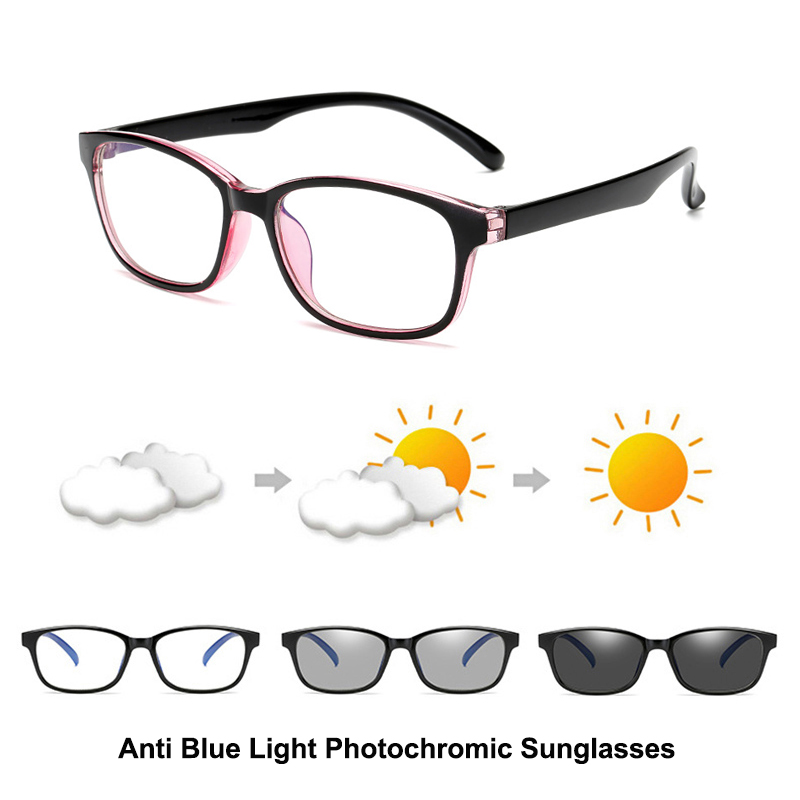 Blue Light Filter Computer Glasses For Blocking UV Anti Eye Eyestrain Transition Photochromic Gaming Glasses Women Men