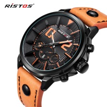 RISTOS High Quality Men Brand Sports Watches Quartz Watch Mens Top Luxury Casual Wristwatches relogios masculino erkek kol saati