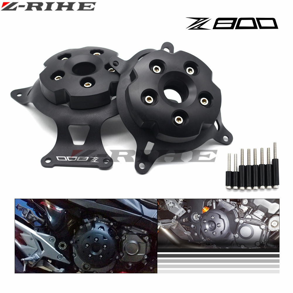 For KAWASAKI Z800 Z 800 2013-2017 GOOD Motorcycle Engine Stator Cover CNC Engine Protective Cover Left & Right Side Protector motorcycle cnc right side engine stator cover guard clutch protector guard for kawasaki z125 2015 2016 2017 z 125 moto accessory