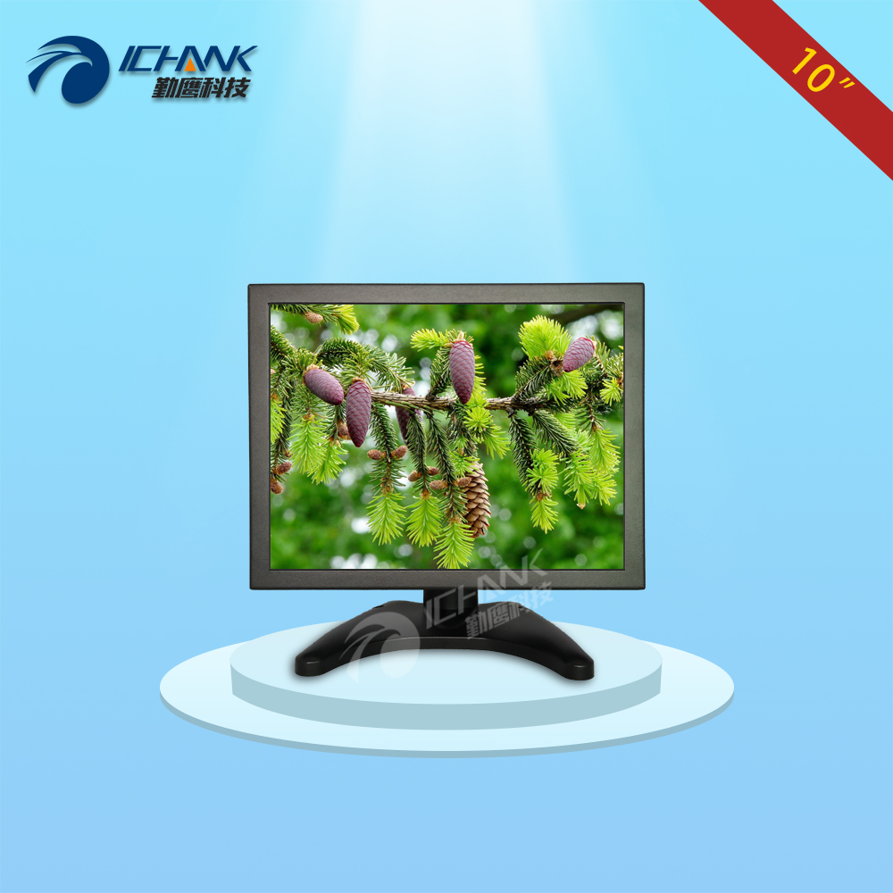 ZB100TN-V59/10 inch metal shell monitor/10 inch steel casing display/Anti-interference POS machine,Industry Wall-frame monitor; k080tn abhv 8 inch open frame monitor 8 inch wall frame monitor 8 inch metal casing 1024x768 hdmi hd industrial monitor