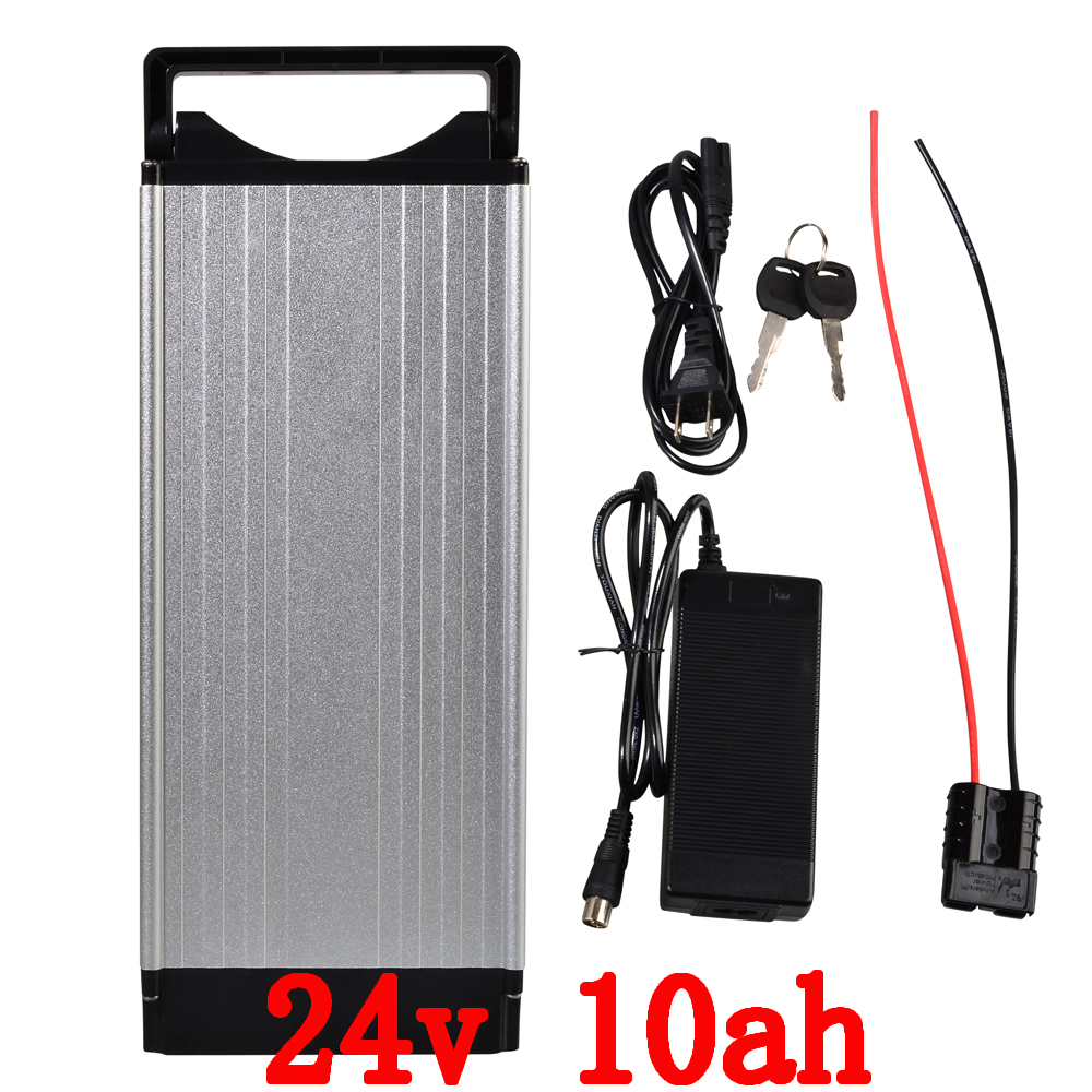 24V 10AH Rear rack Lithium Battery , Aluminum alloy Battery Pack , 29.4V Electric bicycle Scooter E-bike Free Shipping colaier 7s5p new victory 24v 29 4v 10ah lithium battery electric bicycle 18650 24 vli ion battery 29 4v2a charge