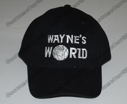 82410ea49b5 Black Wayne s World Hat Costume Waynes World Unisex Earth Hats Embroidered  Trucker Dad Hat Unisex Cap Adjustable-in Boys Costume Accessories from  Novelty ...