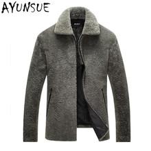 2016 New Autumn Winter Slim Men Leather Jackets Soft Sheepskin Warm Jacket Men s Woolen Outerwear