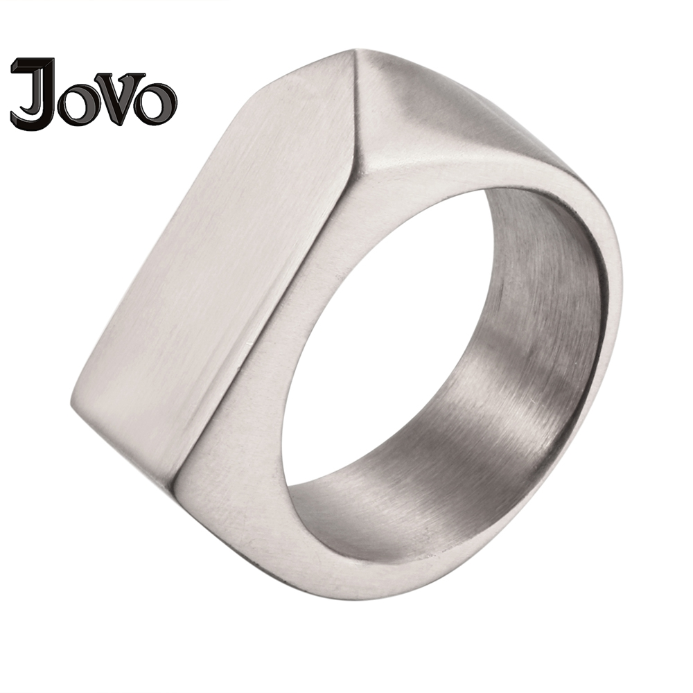 Biker Style Faceted Design Stainless Steel Rings for Men Silver Color Punk Style Personalized Biker Rings Mens Ring Size 7-13#