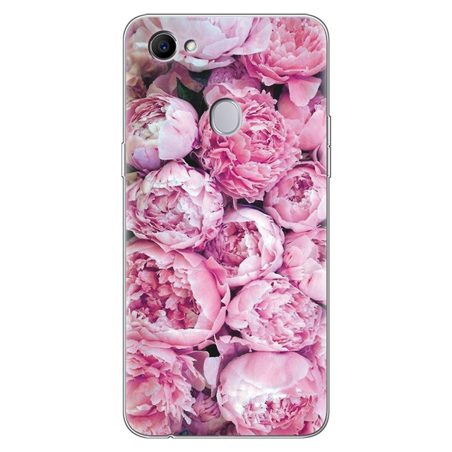Flowers For OPPO F7 Case Silicone 6.23 3