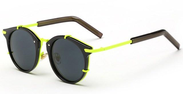 Moda Retro diseño único colorido hombres mujeres de las señoras gafas de sol polarizadas de la aleación Multicolor marco TAC UV400 Lentes polaroid