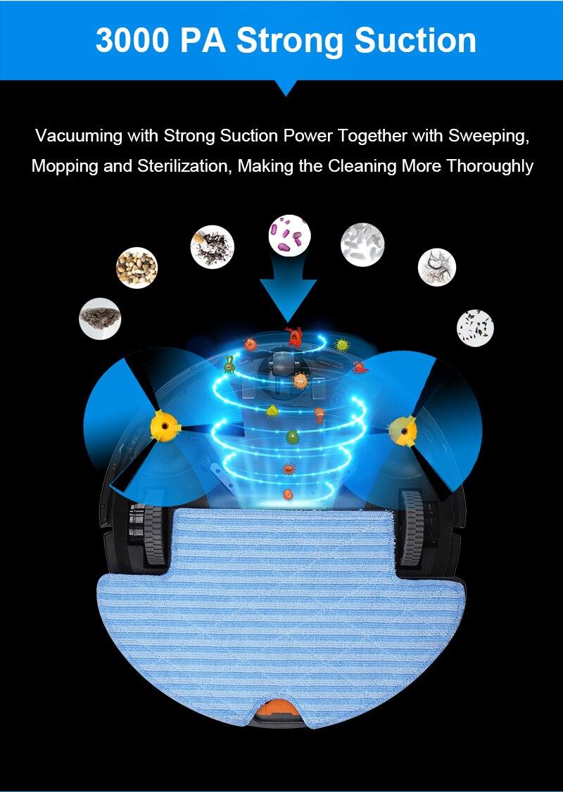 (FBA) LIECTROUX Roboter Staubsauger Q8000, WiFi App Control, Karte Navigation, Smart Memory, starken Sog Power, Wet & Dry Mop