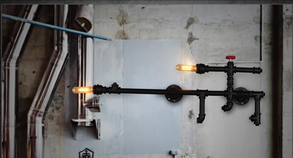 B020 Lamp Vintage Wall Light Loft Nordic Water Pipe Wall Lamp Retro ...