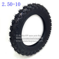 Front Wheel Tire Outer Tyre 2 50 10 Deep Teeth 10inch Dirt Pit Bike Off Road