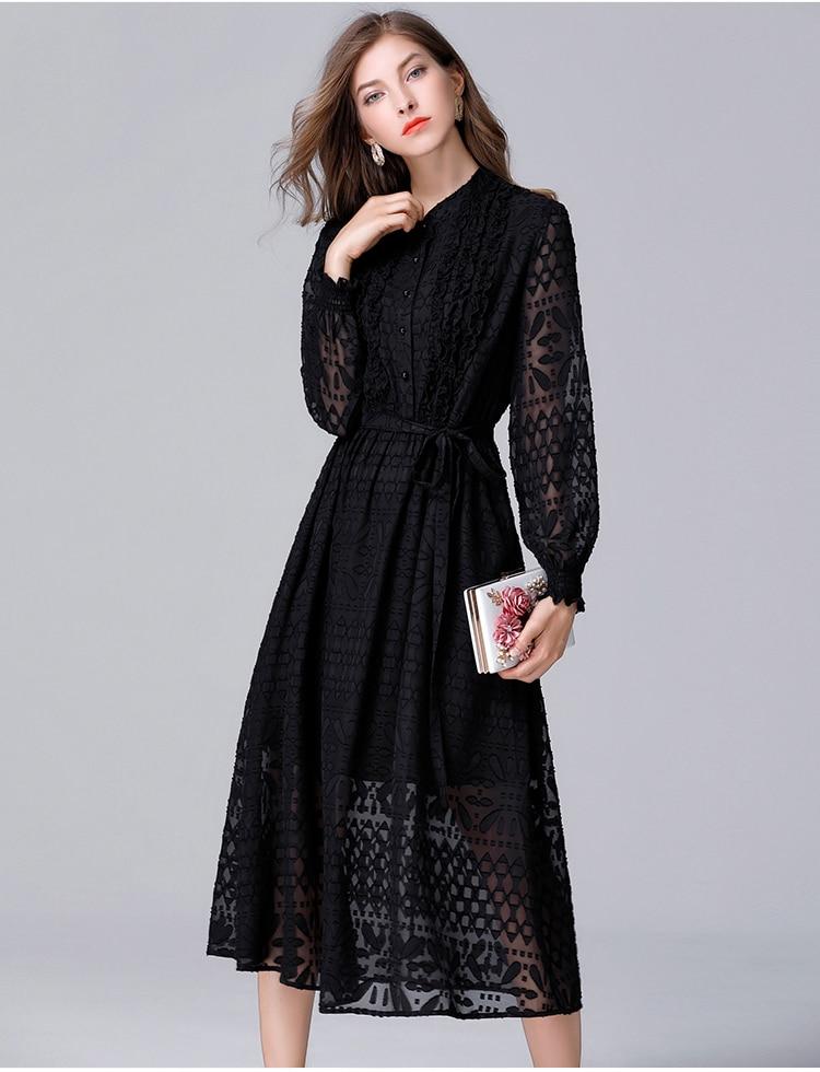 Kadın Giyim'ten Elbiseler'de Kadın Giyim Yeni Avrupa Ve Amerikan Mizaç bel kemeri Belle Elbise Artı Boyutu Feminino Ofis Elbise L 5XL 14048'da  Grup 2