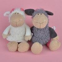 2 Pcs Brinquedo De Pelúcia Cordeiro, carneiros Do Bebê Caçoa o Presente Toy Atacado com Frete Grátis
