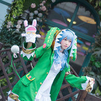 Anime DATE A LIVE Yoshino Fairy Dress Cosplay Costume Set with Wigs and Shoes