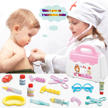15pcs Doctor Toys Educational Pretend Doctor Nurse Role Children Pretend Play Toys Doctor Play Set Medical Kit Roleplay Toy Set 15 pieces set children pretend play doctor nurse toy set portable suitcase medical kit kids educational role play classic toys