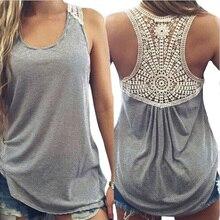 YSDNCHI футболка Femme летние женские кружевные футболки женские хлопковые Лоскутные базовые повседневные топы жилет 5XL размера плюс футболки