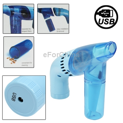 Gun Shape Mini Electric Vacuum Cleaner Dust Collector, Suitable for use at home, car and in the office