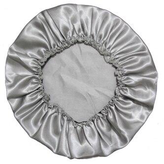 Атласное шелковое ночное белье из полиэстера, 11 цветов - Цвет: Sliver