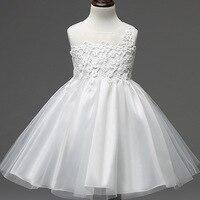Śliczne Dzieci Koronki Kwiat Dziewczyna Dziecko Sukienka Księżniczka Rocznika Pierwsza Komunia Strona Suknia Ślubna Sukienka Dla Maluch Dziewczyna Urodziny Nosić