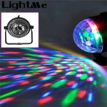 New Popular Mini RGB LED Crystal Magic Ball Stage Effect Lighting Lamp Party Disco Club DJ Bar Light Show 100-240V EU US Plug