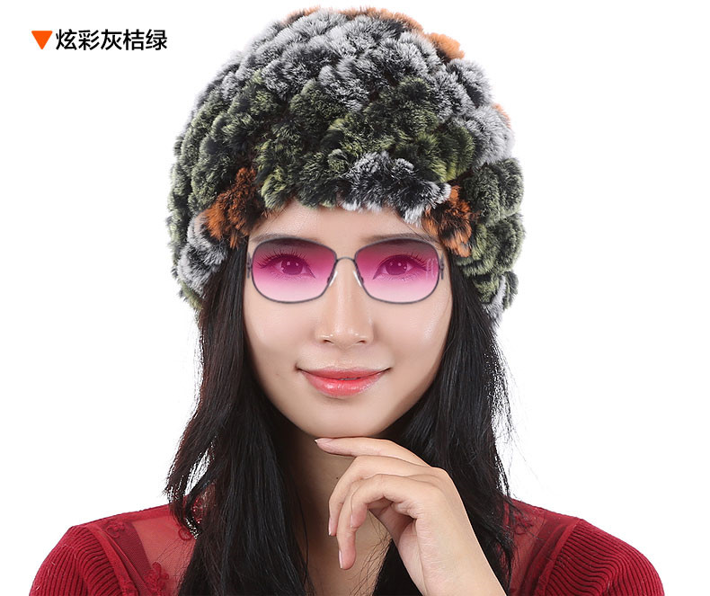 Claus hat girl autumn winter day thickening sets hat weaving of otter mother cotton padded cap