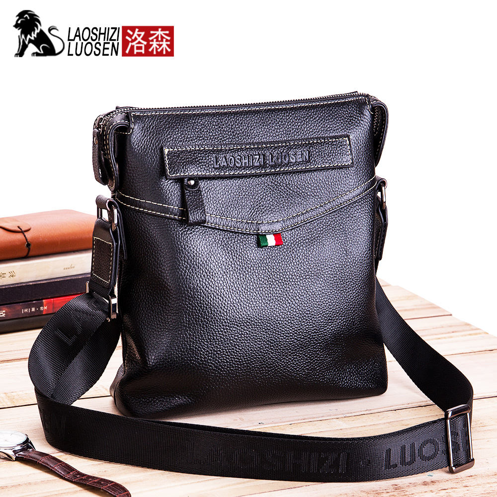 Bags Men Shoulder Small Handbag Messenger-Bags Male Laoshizi Luosen Flap 91206 Casual