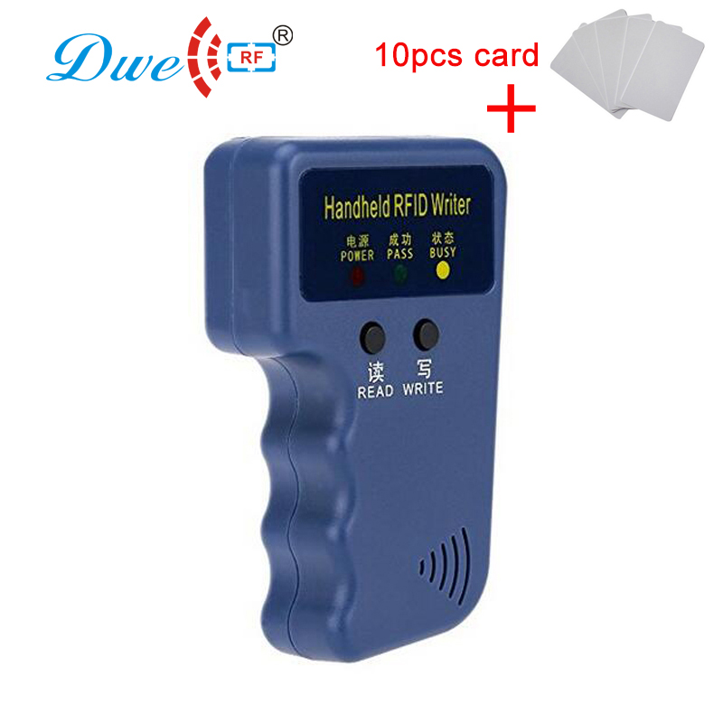 DWE CC RF access control card reader rfid duplicator built-in buzzer EMID handheld writer cloner 125khz rfid clone dwe cc rf 2017 hot sell 13 56mhz 12v wg 26 rfid outdoor tag reader for security access control system