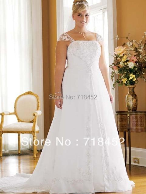 Chiffon split front wedding dress