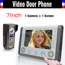 7 Inch video door phone Video Doorbell System IR Night Version Camera video intercom Kit Video Doorphone for Villa home