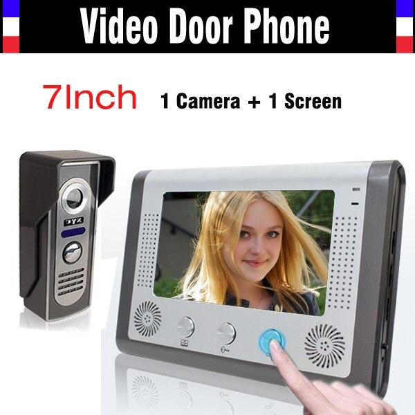 7 Inch Video Door Phone Video Doorbell System IR Night Version Camera Video Intercom Kit Video Doorphone For Villa Home
