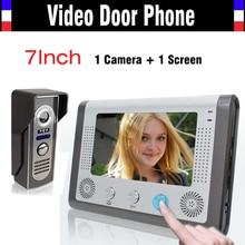 """7 pulgadas Video de la puerta teléfono LCD Monitor de vídeo portero automático Cmos IR versión de la noche de vídeo sistema de intercomunicación 7 """" campana de puerta Video"""