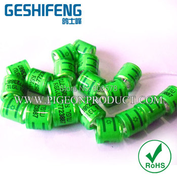 colorful aluminium core with plastic coat pigeon band ,bird foot band